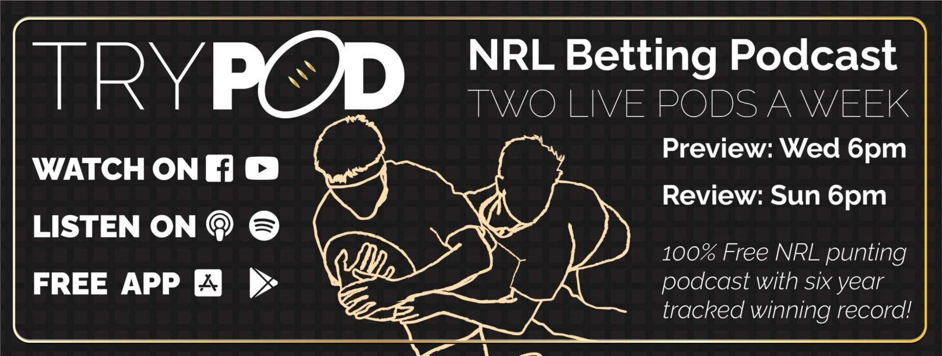 Free NRL Bets Betting & Tips Podcast